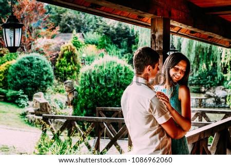 Lovely couple embrace #1086962060