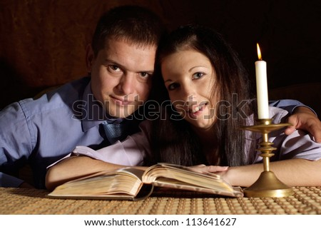 Lovely couple enjoying each other's company at home