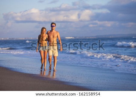 lovely couple on beach. #162158954