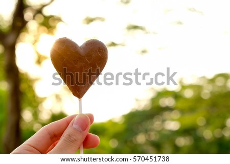 Lovely heart chocolate candy #570451738