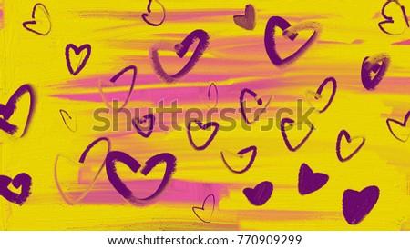 lovely heart pattern #770909299