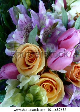 Lovely mixed bouquet #1011687652