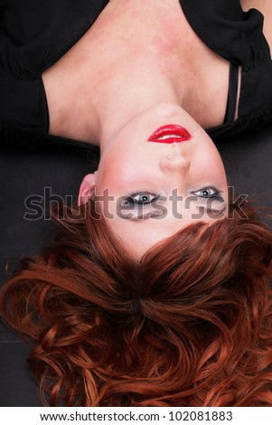 lovely redhead - Young beautiful red haired woman blue eye