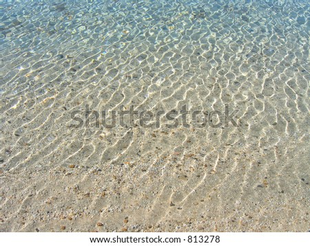 Lovely shallow sun/water patterns from Lake Tahoe. Very easy to discern sandy bottom with several pebbles.