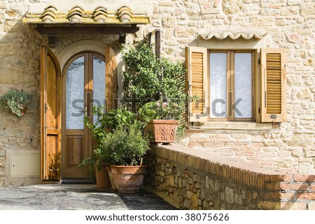 lovely tuscan entrance