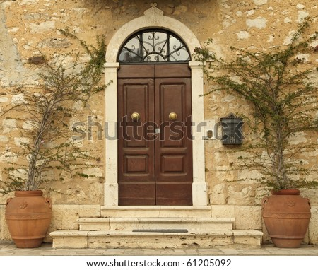 lovely tuscan front door, Italy, Europe
