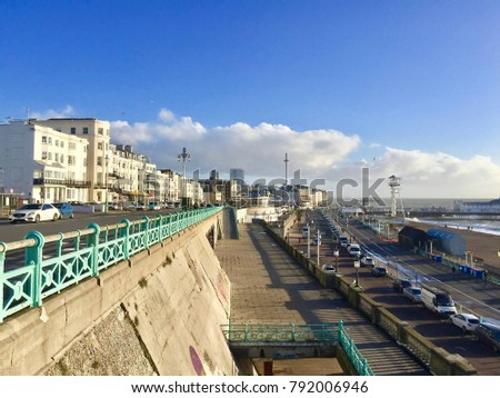 Lovely view of Brighton Pier. Brighton Marine Palace and Pier is popular tourist attraction, which opened in 1899. Brighton in United Kingdom #792006946