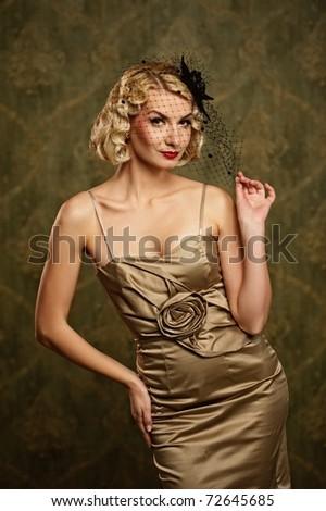 Lovely woman retro portrait