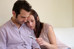 Lovers couple scared after pregnancy test result