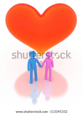Lovers - High quality Render with Clipping Path