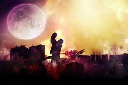 Lovers under the moon