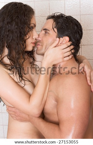 stock photo loving affectionate nude young heterosexual couple in affectionate sensual kiss after taking shower 27153055 Free mature vs young movies