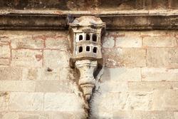 Loving animals. Bird-house carved in stone. Ottoman architecture. Ottoman art. Istanbul, Turkey.