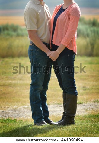 Loving couple dating holding hands boyfriend and girlfriend affection