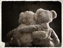 Loving couple of teddy bear