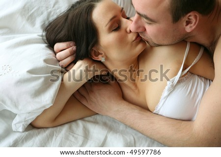 loving couple, series - stock photo