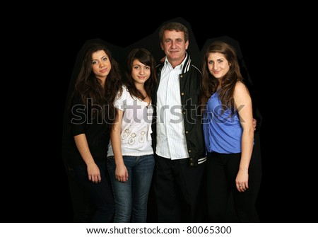 loving father and three daughters