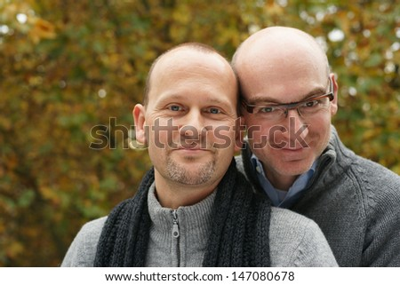Loving gay couple