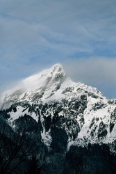 Low angle view of a snow covered mountain in Washington State