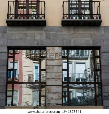 Low angle view of apartment, Granada, Granada Province, Spain Photo stock ©