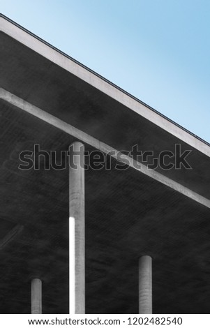 low angle view of bridge against sky #1202482540