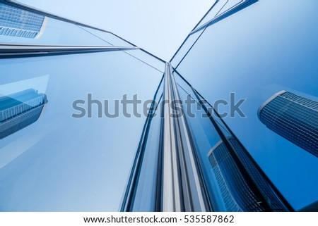 low angle view of business buildings in Shenzhen,China. #535587862