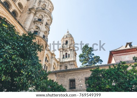 Shutterstock low angle view of catedral de malaga, malaga, spain