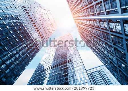 low angle view of modern buildings #281999723