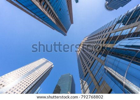 dd920f8d9605 low angle view of skyscrape in shanghai China