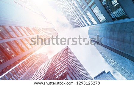 low angle view of skyscrapers #1293125278