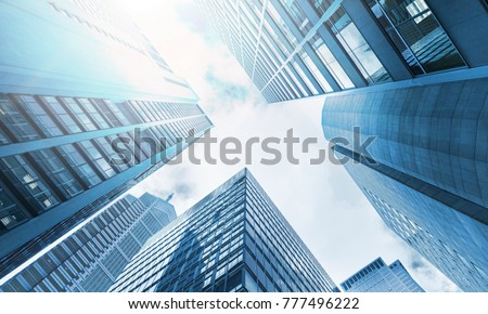 low angle view of skyscrapers #777496222