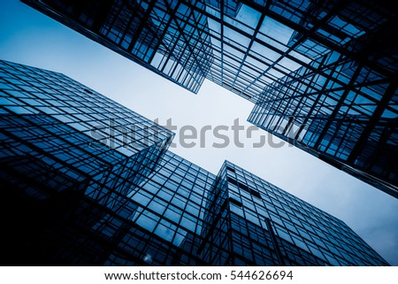low angle view of skyscrapers in city of China. #544626694
