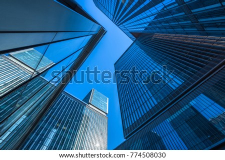 low angle view of skyscrapers in city of China #774508030