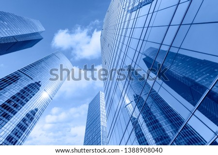 low angle view of skyscrapers in Shanghai,China #1388908040