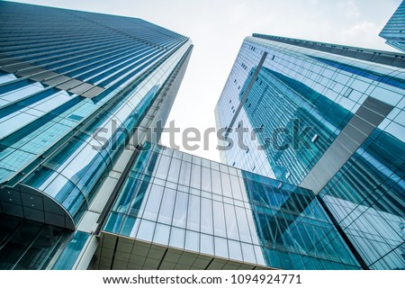 low angle view of skyscrapers in Shenzhen,China. #1094924771