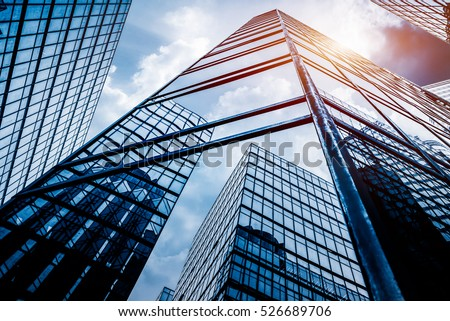 low angle view of skyscrapers in Shenzhen,China. #526689706
