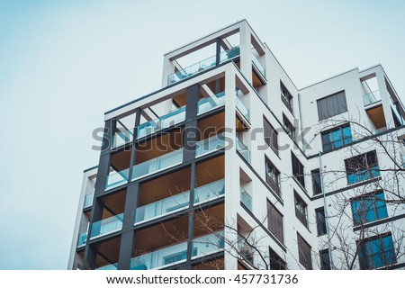 low angle view on exterior of...