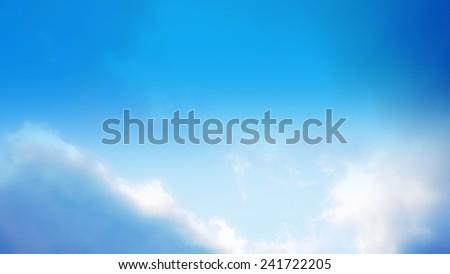 low contrast of sky, sky blue filter