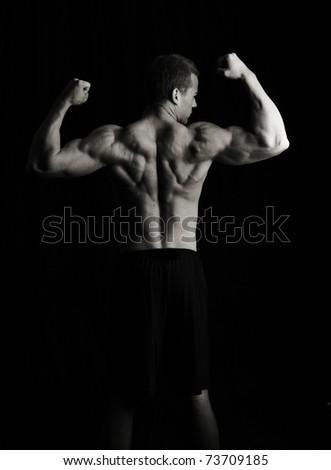 Low key artistic fitness man