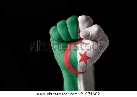 Algeria - national flag and outline map