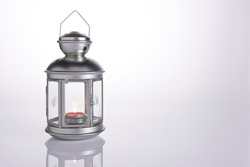 Low Key Tea Light Candle in Lantern