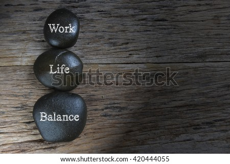 Low light of Work-Life Balance concept.