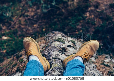 Low Section Of Man in the mountain #601080758
