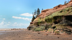Low tide at Soley Cove. One of the geoparks on the Cliffs Of Fundy, on the Nova Scotia side.