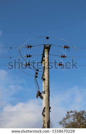 Low voltage high voltage electrical infrastructure carrying power to families  homes and businesses #1558670228