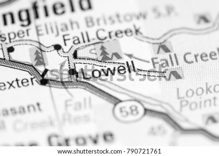 Lowell Oregon Map.Shutterstock Puzzlepix