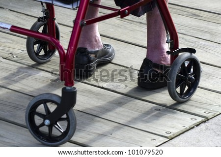 Lower body of a an elderly woman sitting in a wheelchair.Concept photo of old age, health care,old people lifestyle, pensioner,medical, retirement.