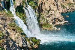 Lower Duden waterfall. Lara, Antalya, Turkey