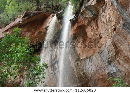 Lower Emerald Falls in Zion National Park