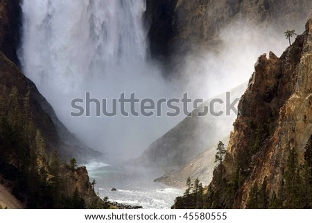 Lower Fall at Yellowstone National park